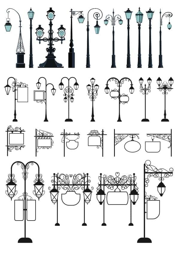 Street Lamp set (cdr)