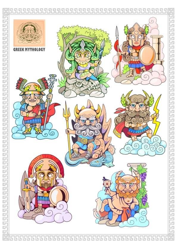 Greek Gods set (cdr)