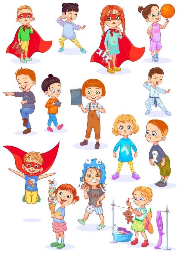 Cute Children 6 set (cdr)