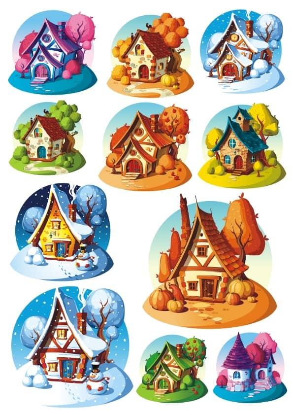 Cartoon House set (cdr)