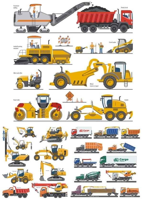 Heavy Machinery set (cdr)