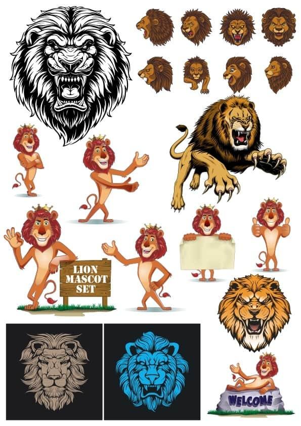 Lion set (cdr)