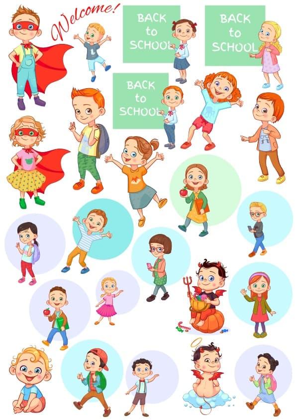 Cute Children 4 set (cdr)