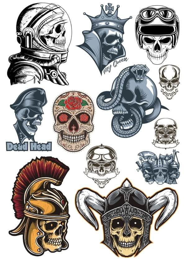 Skull set (cdr)