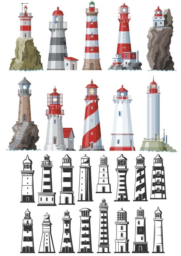 Lighthouse set (cdr)