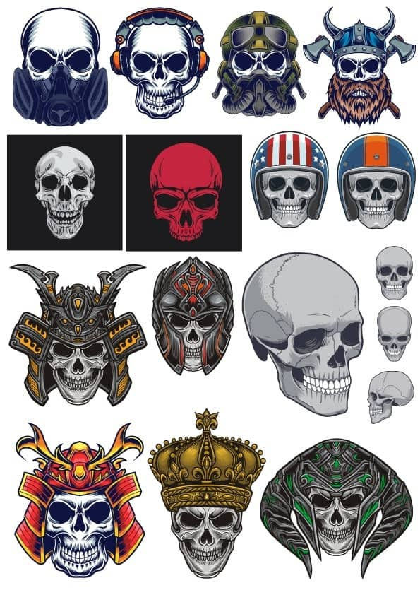 Skull set 2 (cdr)