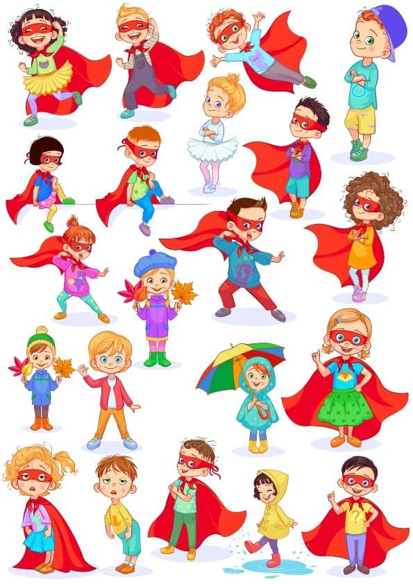 Cute Children 3 set (cdr)
