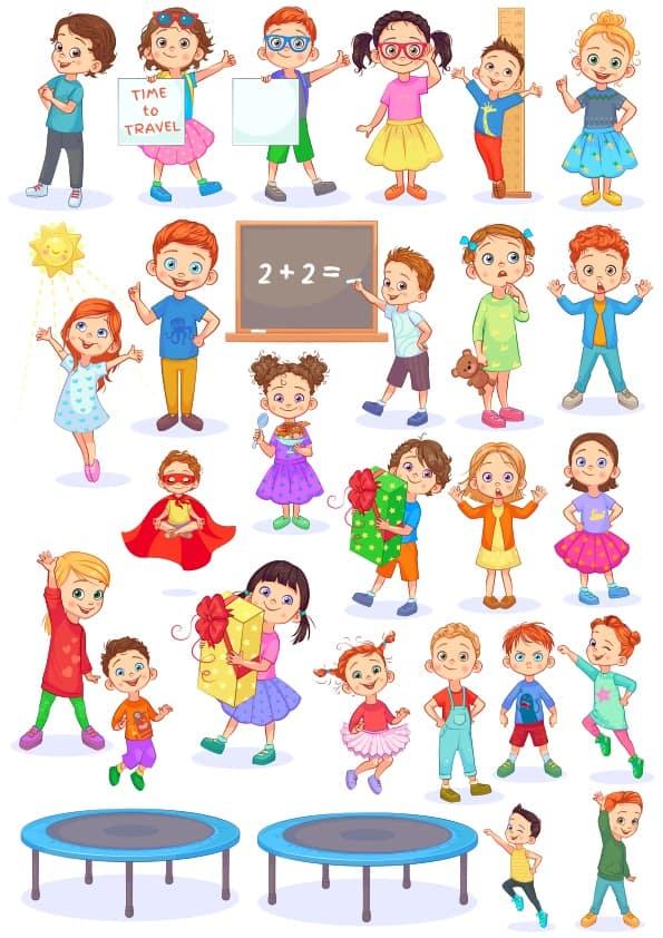Cute Children 2 set (cdr)