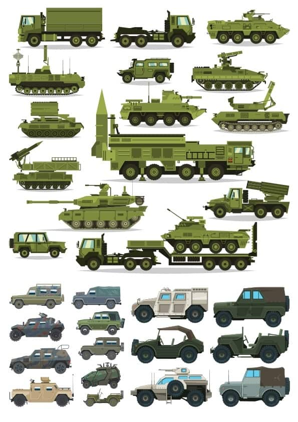 Military Machinery set (cdr)