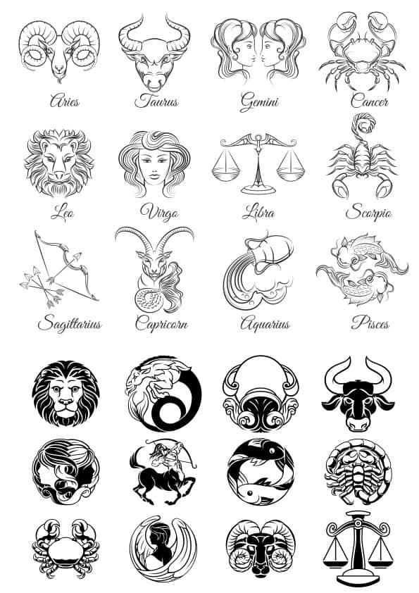 Zodiac set 3 (cdr)