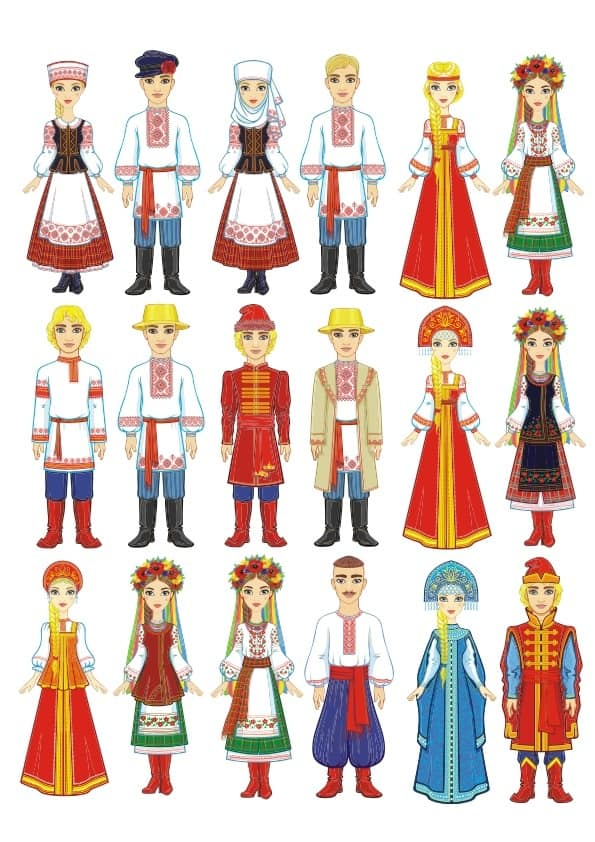 Russian Traditional Wears set (cdr)
