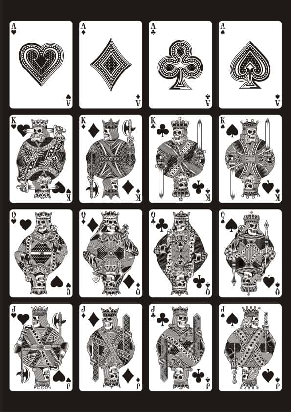 Skull Cards set (cdr)