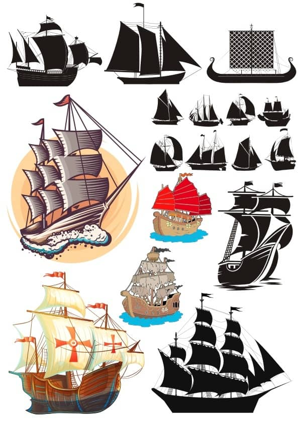 Sail ships set (cdr)