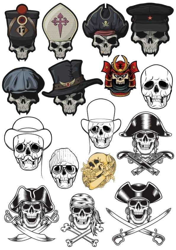 Skulls set 8 (cdr)