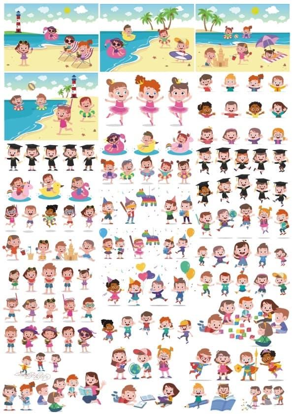Funny Kids set (cdr)