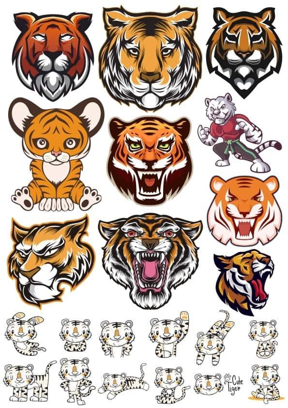 Tiger set 5 (cdr)