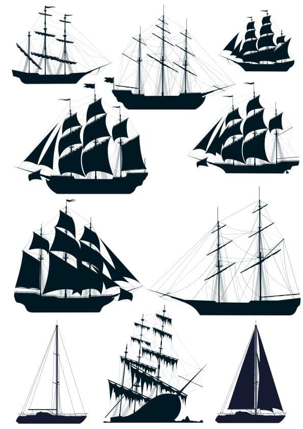 Ship Silluetes set (cdr)