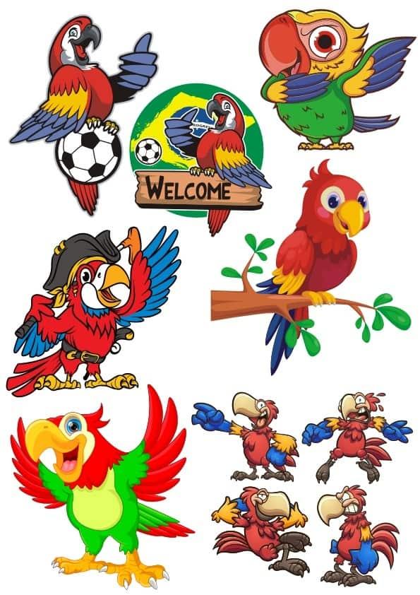 Parrots set (cdr)