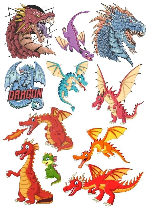 Dragons set (cdr)