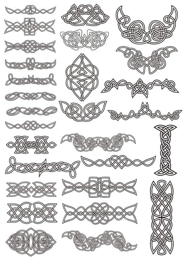 Celtic ornaments set 4 (cdr)