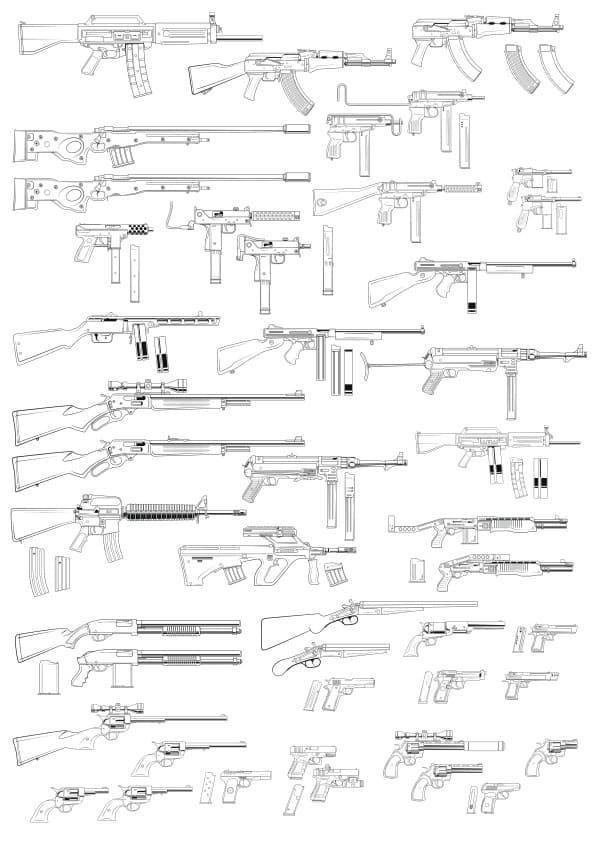 Guns set (cdr)
