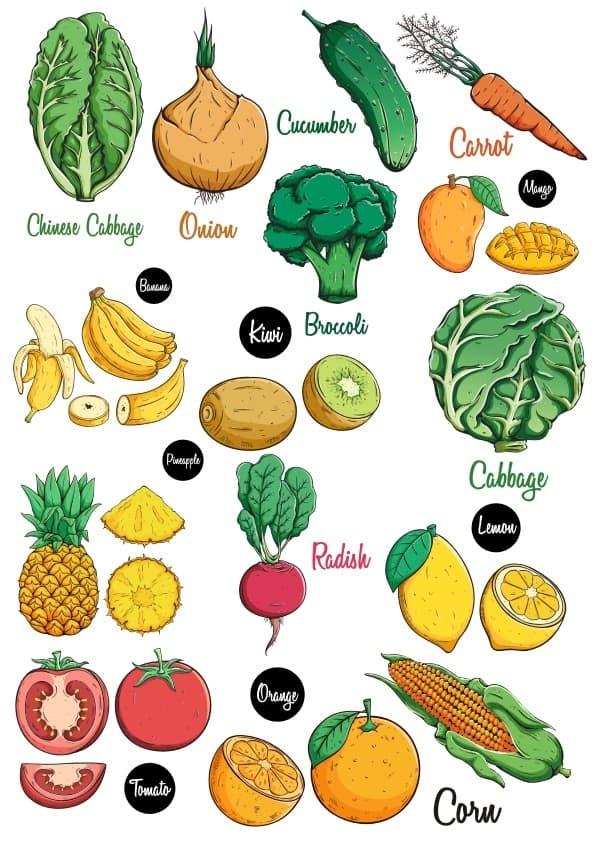 Vegetables set (cdr)