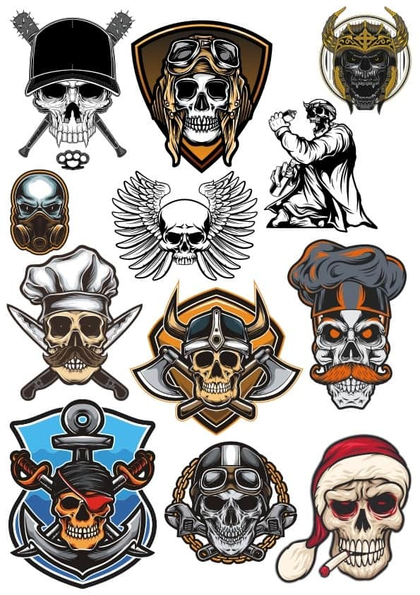 Skulls set 2 (cdr)