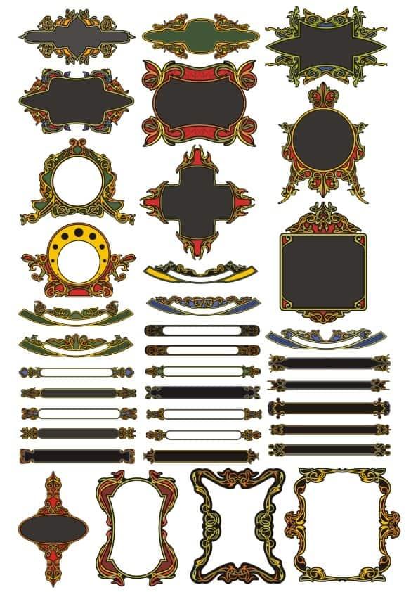Decorative panel set 8 (cdr)