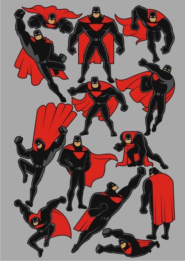 Superhero 1 set (cdr)