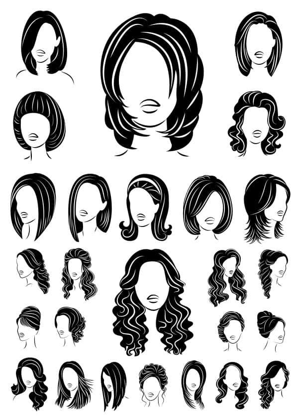 Woman Haircut set (cdr)
