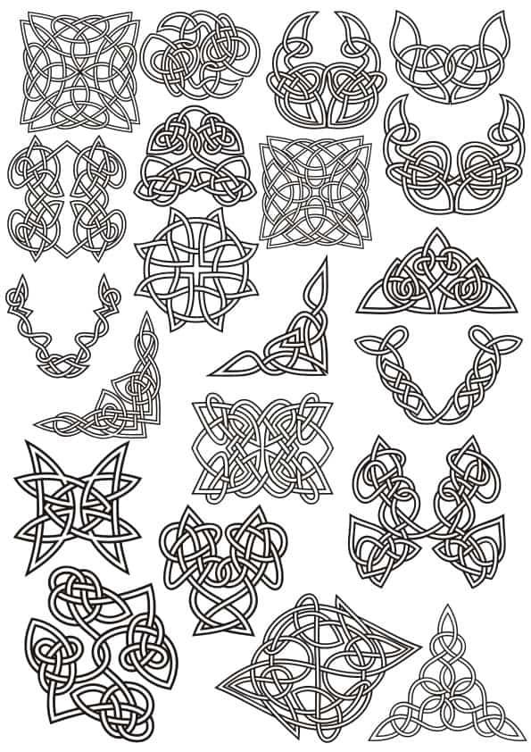 Celtic ornaments set 1 (cdr)