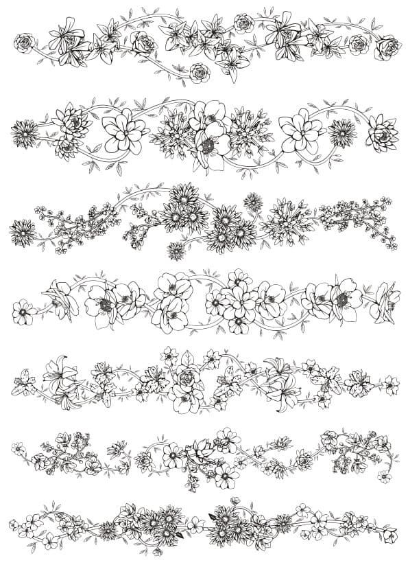 Floral ornament set 5 (cdr)
