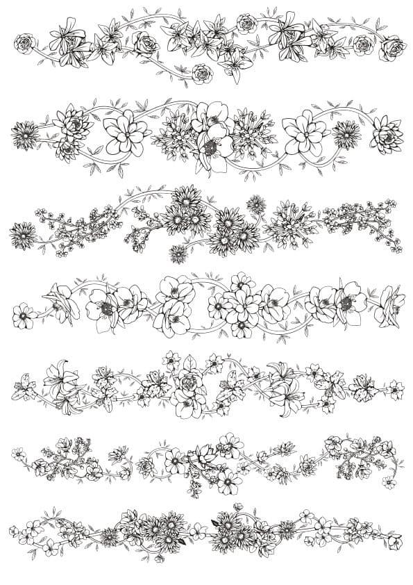 Floral ornament set 5 (cdr)