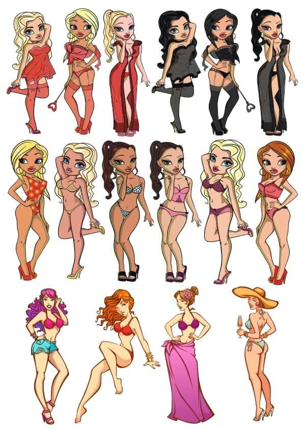 Sexy Cartoon Girls set (cdr)