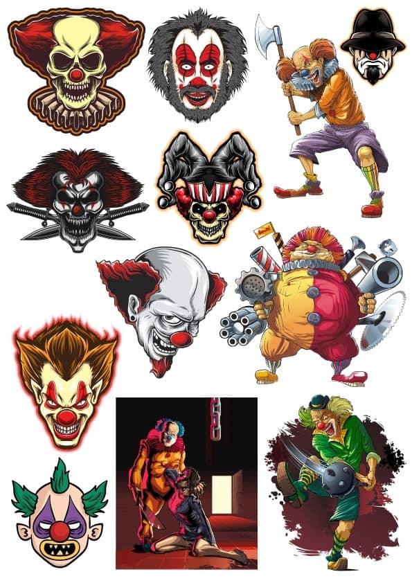 Wierd Clowns set (cdr)