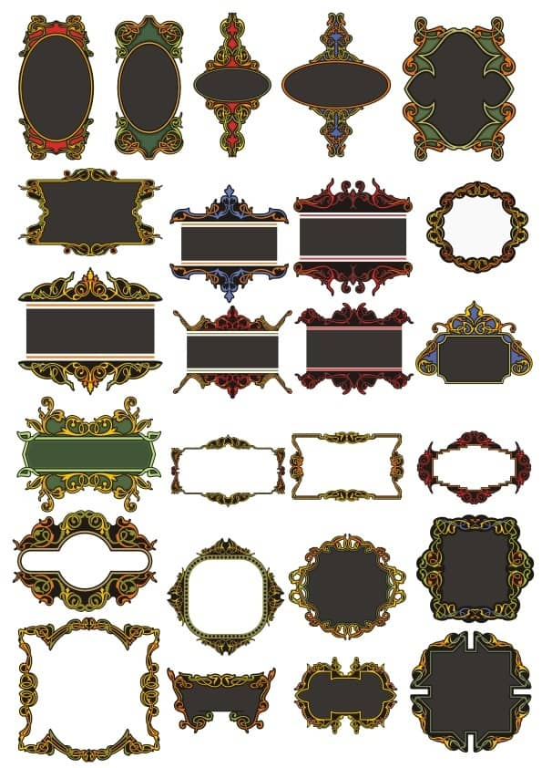 Decorative panel set 9 (cdr)