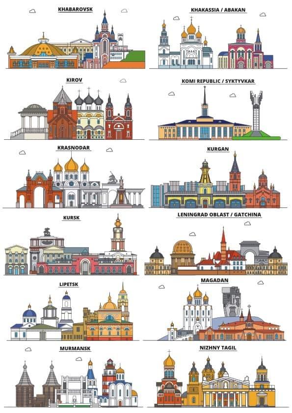 Russian cities set 2 (cdr)