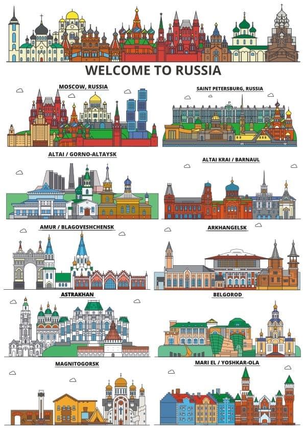 Russian cities set 1 (cdr)