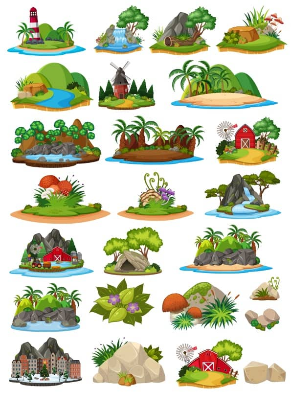 Cartoon Landscape set 2 (cdr)