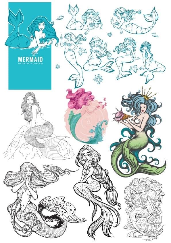 Mermaid set (cdr)