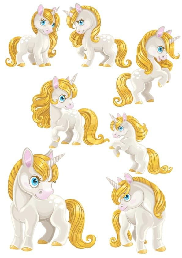 Cute Unicorn set (cdr)